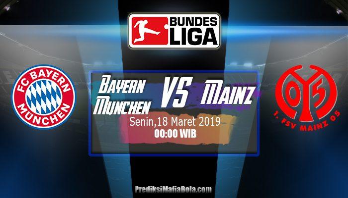Prediksi Bayern Munchen vs Mainz 18 Maret 2019