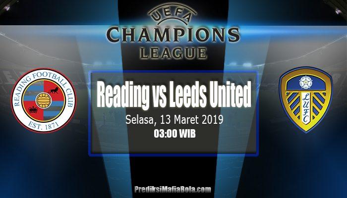 Prediksi Reading vs Leeds United 13 Maret 2019