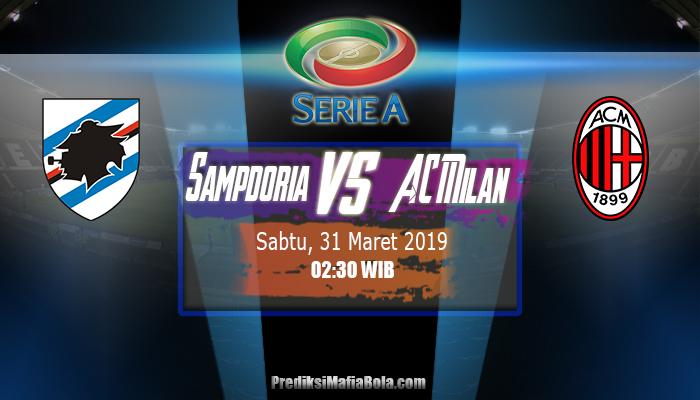 Prediksi Sampdoria vs AC Milan 31 Maret 2019