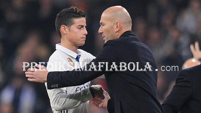 Zidane Tidak Peduli Masa Depan James Rodriguez