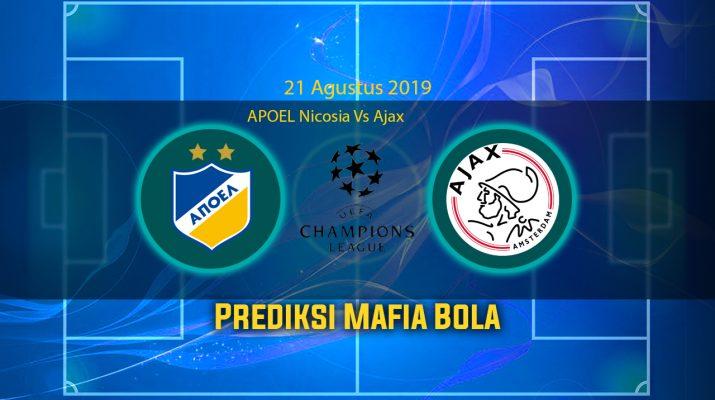 Prediksi APOEL Nicosia Vs Ajax 21 Agustus 2019